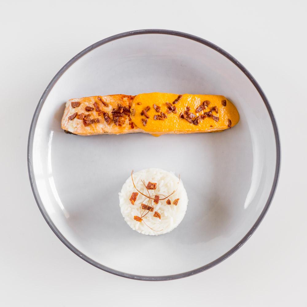 Saumon sauce chorizo