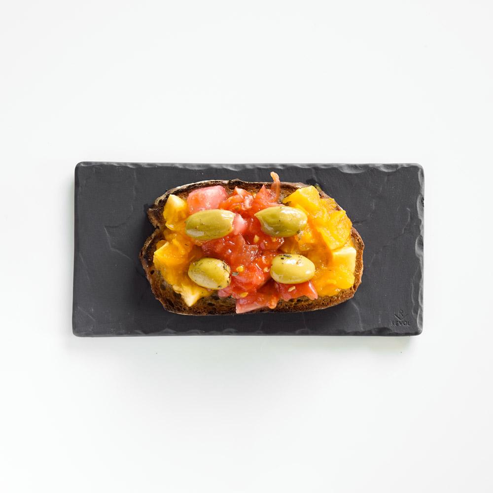 Tartine tomate et olive